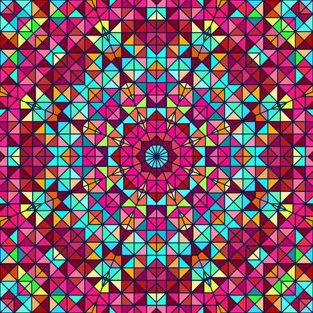 red star: Abstract Colorful Digital Decorative Flower. Geometric Contrast Line Star and Blue Pink Red Cyan Color Artistic Star Backdrop