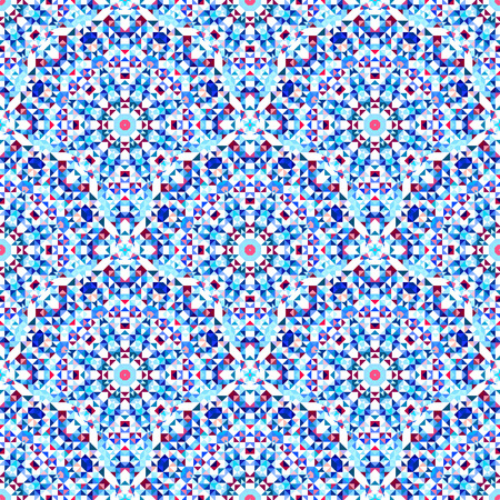 geometrical pattern: Ornamental Seamless Pattern. Abstract Geometrical Vector Background Illustration
