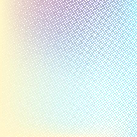 forme: fond Halftone. Jaune clair bleu rose lilas couleur blanche et jaune forme carrée bannière Illustration