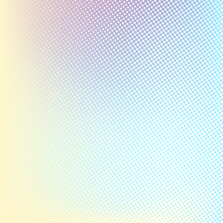 gestalten: Halftone background. Light yellow blue pink lilac white and yellow color square shape banner
