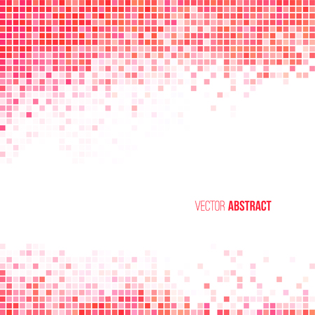 Abstract light red and white geometric background Stock Illustratie