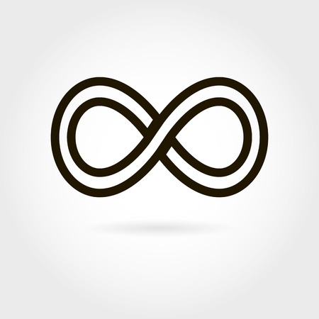 eternally: Limitless icon. Simple mathematical sign Isolated on White Background. Infinity symbol