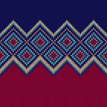 fabric texture: Seamless Pattern. Knit Woolen Trendy Ornament Texture. Fabric Color Tracery Background Illustration