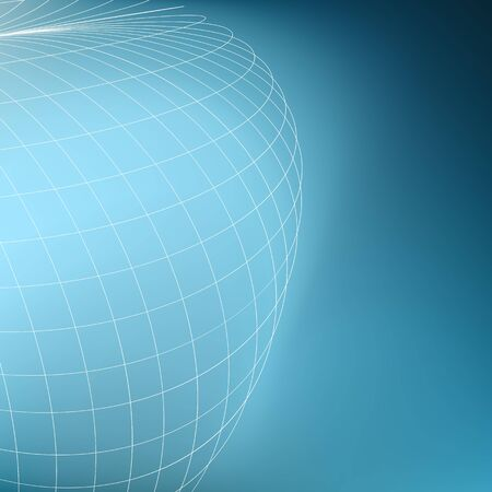diverging: Abstract geometric globe background. Curves diverging fine lines in perspective