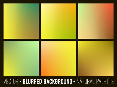 dawning: Blurred abstract backgrounds set.