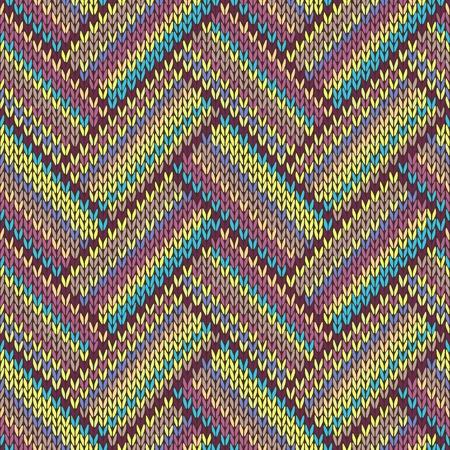 シームレス ニット パターン。色とりどりの部族のテンプレートを繰り返し 写真素材