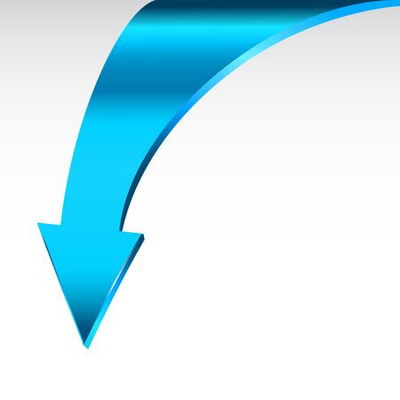파란색 화살표와 중립적 인 흰색 배경 스톡 콘텐츠
