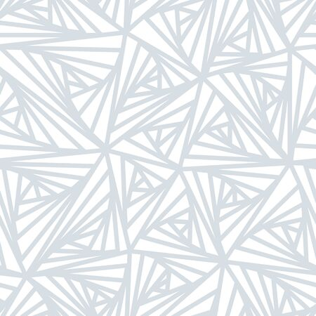abstract white: Seamless pattern. Abstract line geometric ornament. Light white and grey winter background