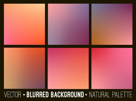 dawning: Blurred abstract backgrounds set. Smooth template design for creative decor covers, banners and websites