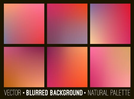 dawning: Blurred abstract backgrounds collection. Smooth template design for creative decor web banners and mobile interface. Illustration