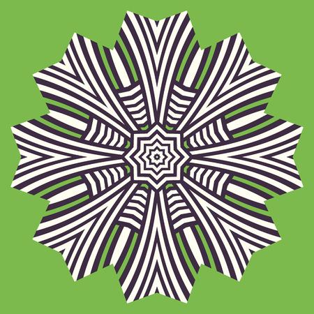 blade: Logo flower geometric shape. Circular pattern. Ornamental design element