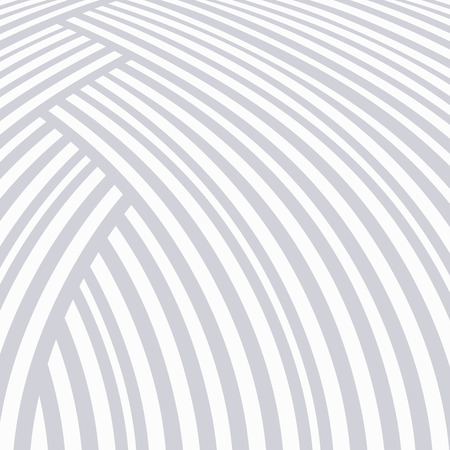 Abstract striped background. White and light grey curve pattern.