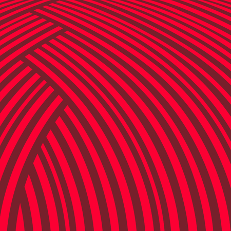 Abstract striped background. Red curve pattern
