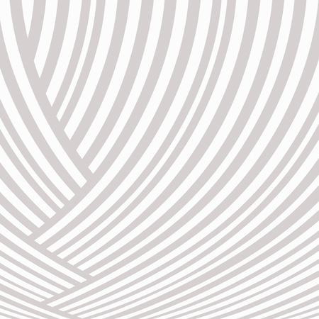 Abstract striped background. White and light grey pigtail curve pattern. Ascending lines
