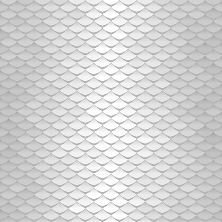 White texture. Abstract scale pattern. Roof tiles background. Ilustração