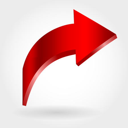 Red arrow and neutral white background.