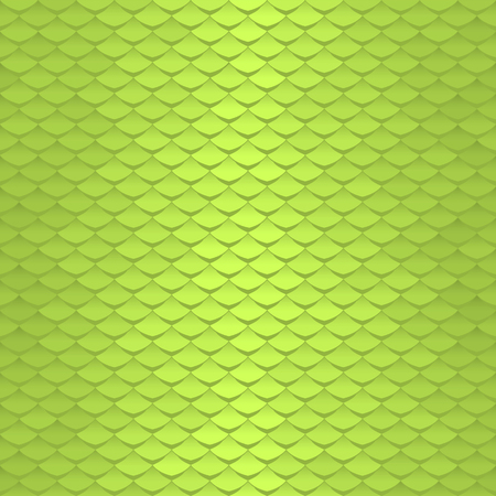 Seamless scale pattern. Abstract roof tiles background. Green squama texture. Illustration