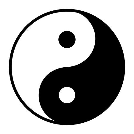 Symbole Ying Yang d'harmonie et d'équilibre Vecteurs