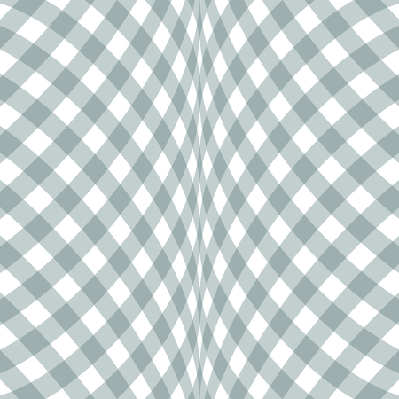 Abstract checkered background white and gray diagonal pattern. 矢量图像