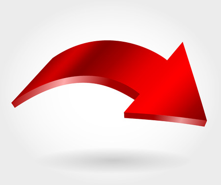 Red declining arrow as symbol of financial crisis Stock Vector - 114783603