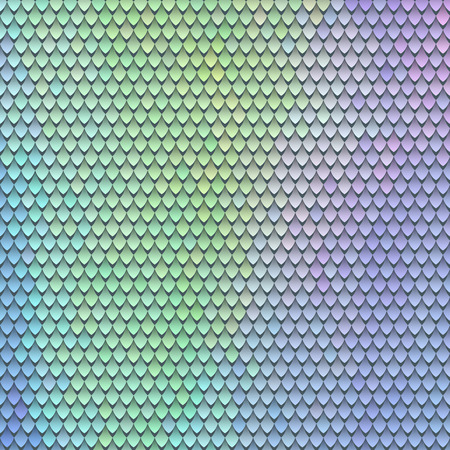 Scaly pattern. Scales of the fairy dragon. Rainbow blue green background