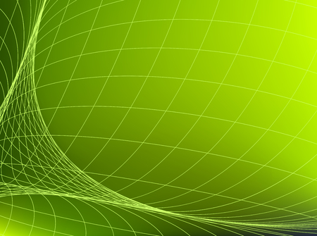 Geometric structure network in green space. Abstract background.