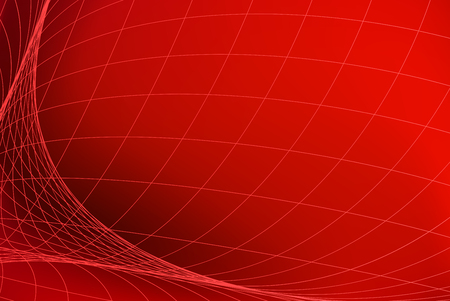 Red abstract background with light red network pattern Illustration
