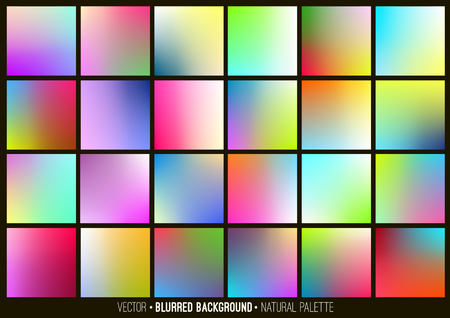 Blurred abstract backgrounds set. Smooth template design for creative decor covers, banners and websites.