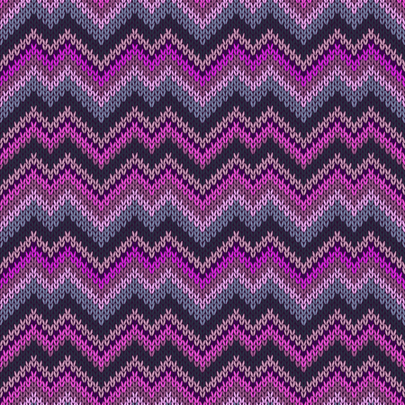 Multicolor seamless knit pattern zigzag vivid modern embroidery.