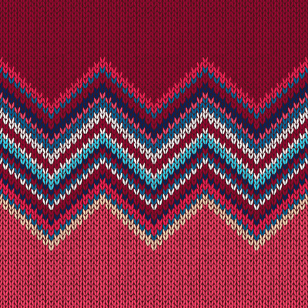 Knitted seamless pattern. Classic Knitwear. Fashion consept background Illustration