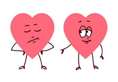 Pair Of Hearts Holding Hands  Concept Of Friendship Love