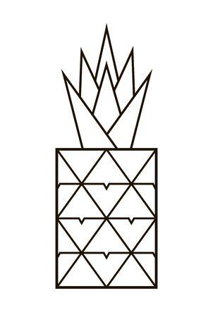 Pineapple icon. Tropical exotic fruit Illustration