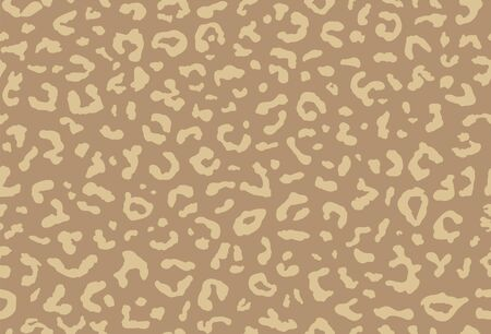 Seamless leopard fur pattern. Fashionable wild color leopard print background. Modern panther animal fabric textile print design. Stylish vector color illustration