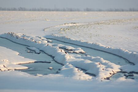 Winter, snow and sunlight Stock Photo