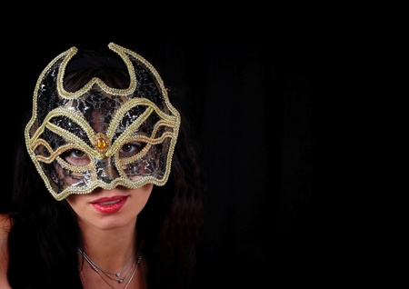 Girl in mask  Stock Photo