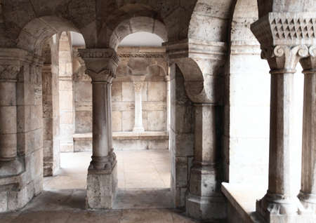 fragment of an ancient palace of white marble