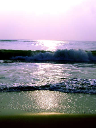 sea waves at the beach Stock Photo