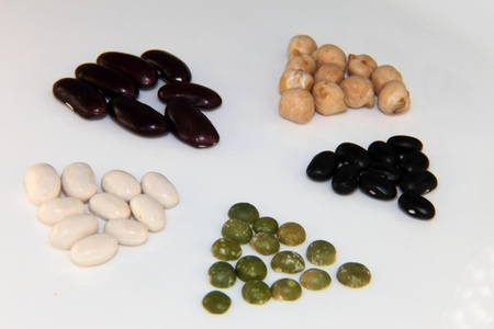 a mixture of different legumes photo
