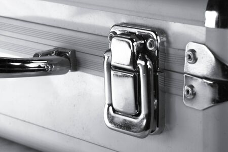 lock on the metal case