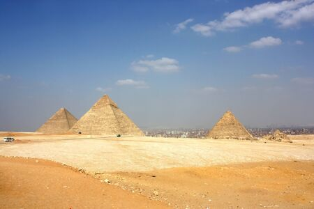 ancient pyramids in the desert of Egypt