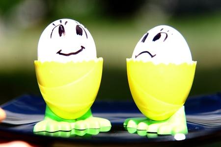children s feet: Funny eggs for children
