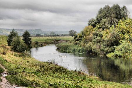 beautiful river landscape Stock Photo