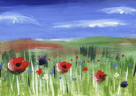 oncept: field with poppies