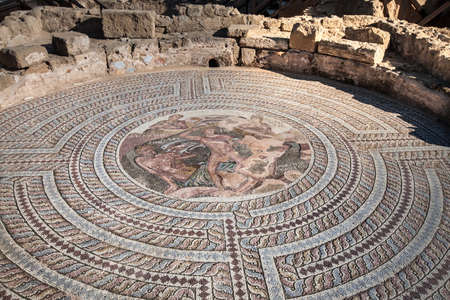 historical mosaic in museum Editorial