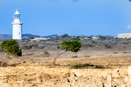 paisaje mediterraneo: Paisaje mediterr�neo con el faro