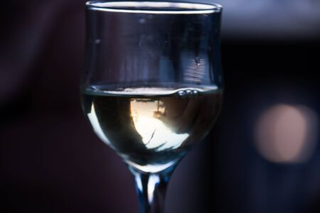 dinne: a glass of wine at night romantic rendezvous