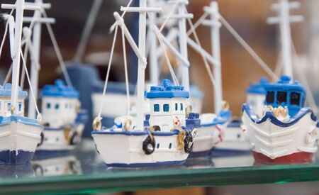 souvenir toy in the form of ships with sails