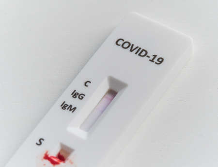 Quick test or diagnostic test to detect Covid-19 or SARS-CoV-2 in humans. Detects igg and igm by obtaining antibodies.