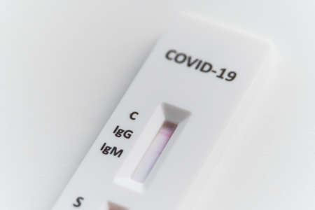 Quick test or diagnostic test to detect Covid-19 or SARS-CoV-2 done by drop blood. Detects igg and igm by obtaining antibodies. It can be positive or negative.