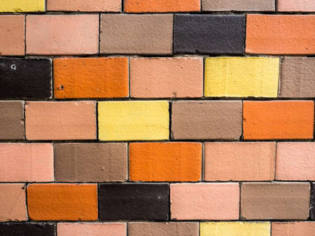 brick walls of different colors